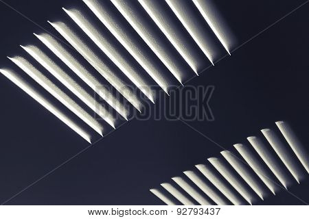 Dark Metal Industrial Wall With Ventilation Grille