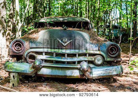 Smashed Cadillac