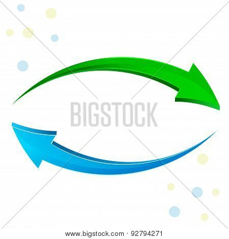 Green, blue arrow 3D.