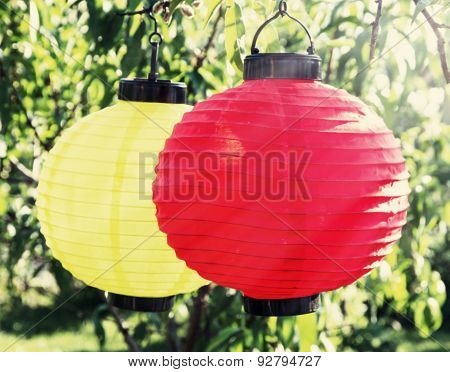 Colorful Paper Lantern Lamps