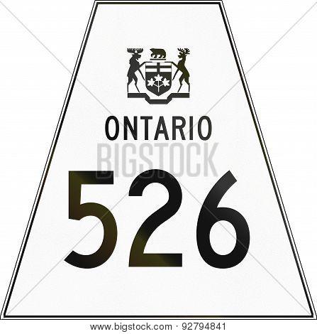 Ontario Highway Shield 526