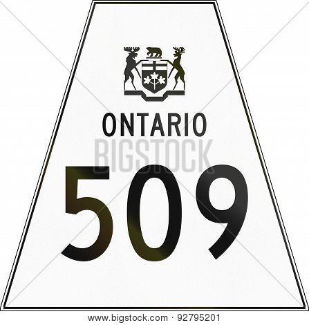 Ontario Highway Shield 509