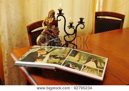 Brown Leather Wedding Photo Book Album