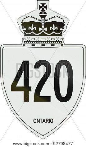 Ontario Highway Shield 420