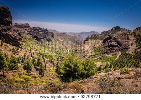 Mountain road in Gran Canaria