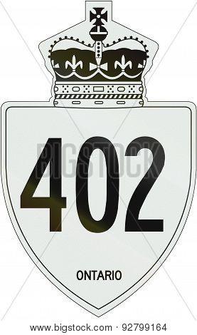 Ontario Highway Shield 402