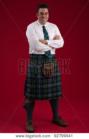 Scotsman In Traditional Costume