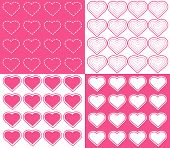 4 Seamless Heart Patterns