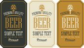 image of malt  - set labels for beer in a retro style with malt - JPG