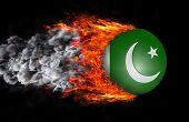 stock photo of pakistani flag  - Concept of speed  - JPG
