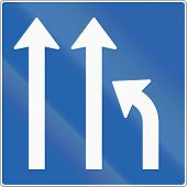 stock photo of merge  - Icelandic road sign - JPG