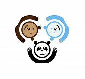 pic of bear  - Bear and panda and polar bear emblem - JPG