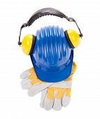 pic of muff  - Hard hat ear muffs and gloves - JPG