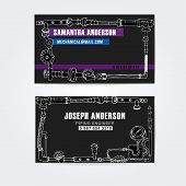 pic of steampunk  - Steampunk style business cards design - JPG