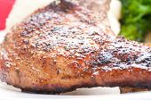 pic of pork chop  - grilled pork rib chop with mashed potato and roasted carrot - JPG