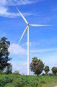 picture of generator  - Wind turbine power generator  - JPG