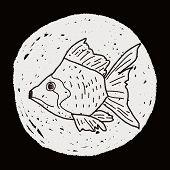foto of goldfish  - Goldfish Doodle - JPG