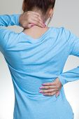 picture of neck brace  - Female with pain back pain and neck pain - JPG