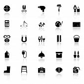 pic of fibonacci  - DIY tool icons with reflect on white background stock vector - JPG