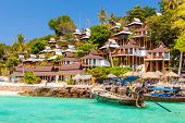 foto of phi phi  - a luxurious resort in Phi Phi Island a tropical Thailand island - JPG