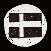 image of sweden flag  - Sweden Flag Doodle - JPG