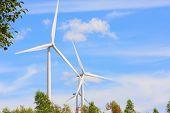 stock photo of generator  - Wind turbine power generator  - JPG