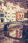 picture of canary  - Small river canal in the Puerto de Mogan - JPG