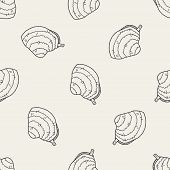 stock photo of clam  - Clam Doodle - JPG