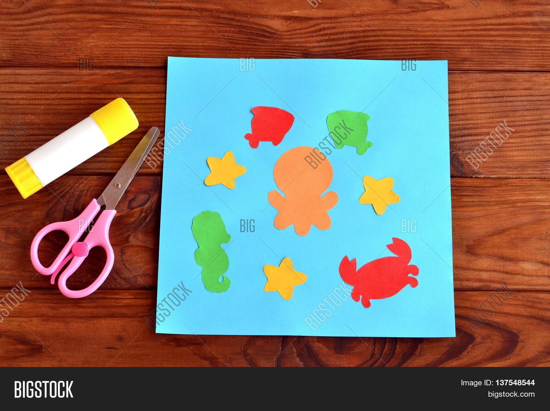 paper card sea animals fishes image u0026 photo bigstock