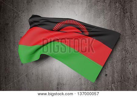 Republic Of Malawi Flag Waving