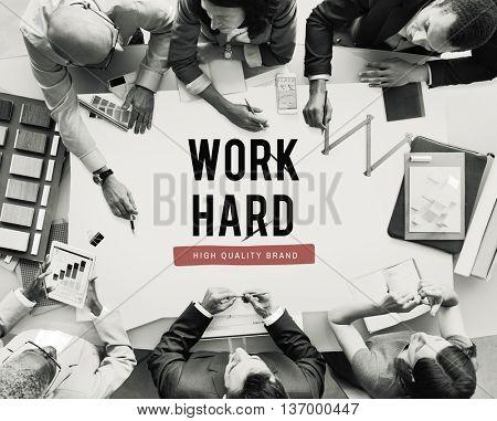 Work Hard Business Effiectiveness Overload Concept