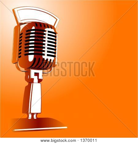 Vector Retro Microphone