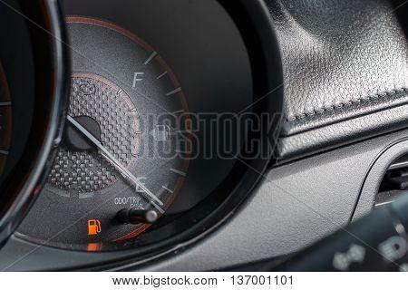 Car Fuel Gauge Showing Empty Fuel level