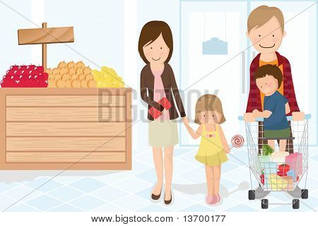 Family Shopping Grocery