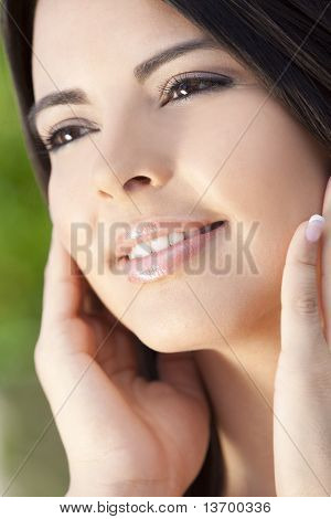 Portrait Of Beautiful Latina Hispanic Woman