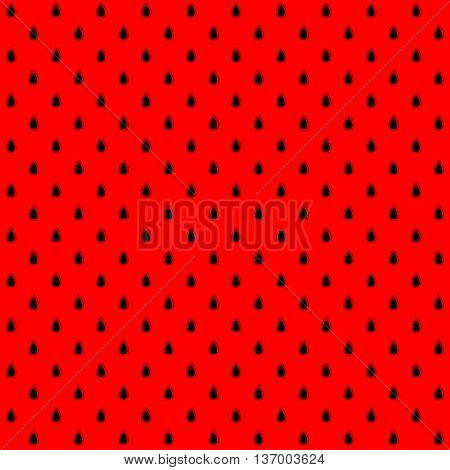 Watermelon seeds and meat black and red seamless pattern background