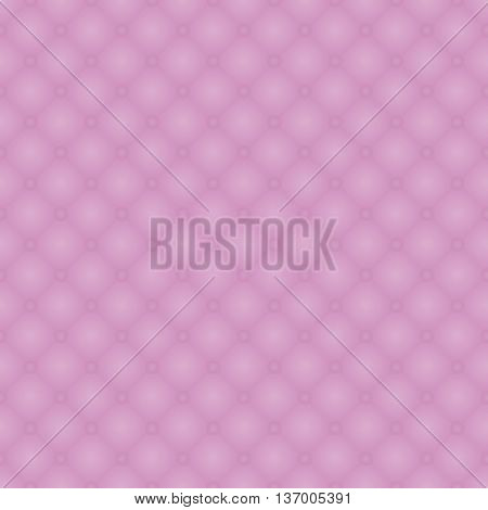 Seamless pattern of pink realistic upholstery leather texture. Luxury royal background with elements button tufted. Abstract vector illustration Eps10.