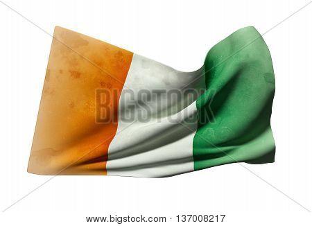 Ivory Coast Flag Waving