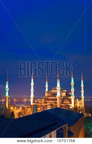 The Blue Mosque, Istanbul, Turkey.