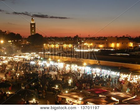 Sunset at Jemaa el Fna