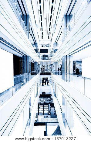 center of modern shopping mall