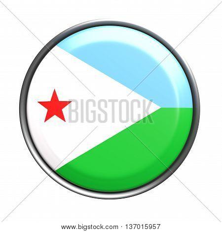 Silhouette Of Djibouti Button