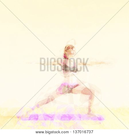 Meditation Concept Illustration with Soothing Background Art 3d Illustration Render