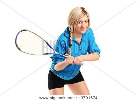 Female Squash Player Posing