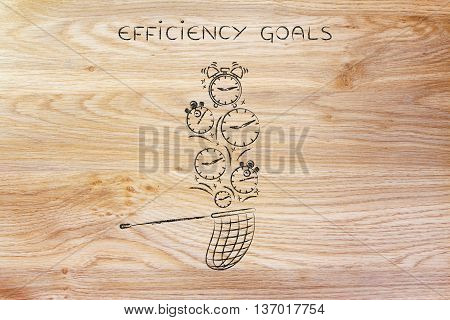 Net Collecting Falling Clocks, Efficiency Goals
