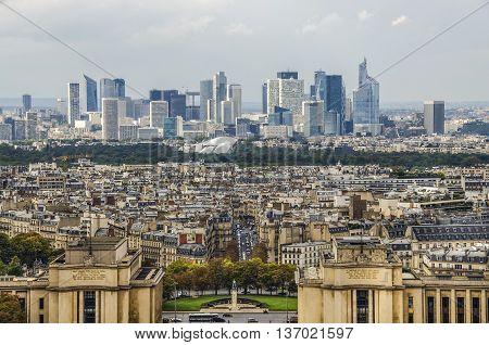 La Defense Business District In Paris , France