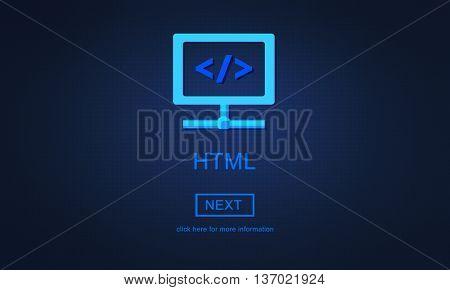 HTML Web Development Programming Language Concept
