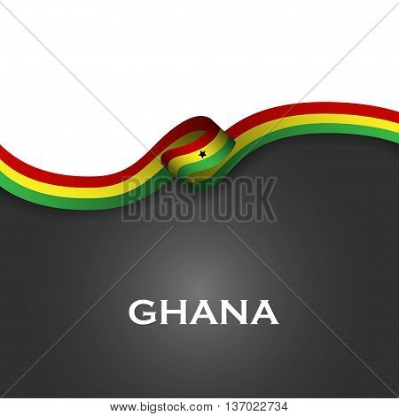 Ghana Sport Style Flag Ribbon Classic Style