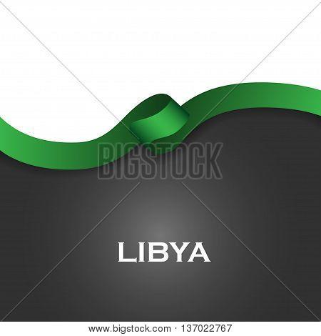 Libya Sport Style Flag Ribbon Classic Style