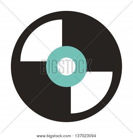 vinyl disc isolated icon design, vector illustration  graphic